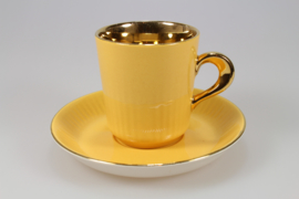 DEMITASSE AND SAUCER - YELLOW / GOLD