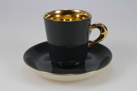 COFFEE CUP AND SAUCER - BLACK