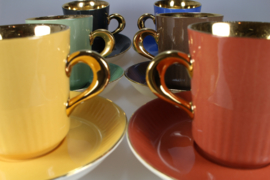 COFFEE CUP AND SAUCER - RED