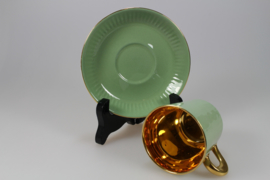 COFFEE CUP AND SAUCER - GREEN