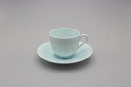 KOLORITA COFFEE CUP AND SAUCER - BLUE