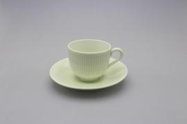 KOLORITA COFFEE CUP AND SAUCER - GREEN