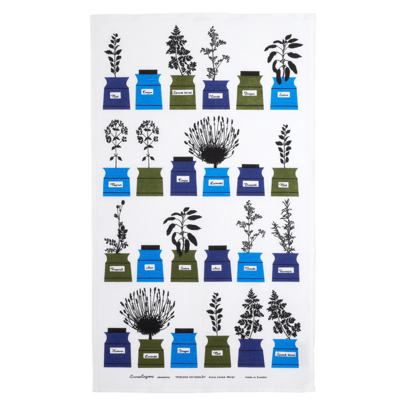 "DESIGNER TEA TOWEL ""PERSONS KRYDDSKÅP"""