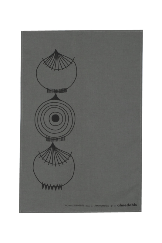 "DESIGNER TEA TOWEL ""PICKNICK GREY"""