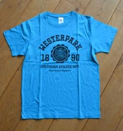 Westerpark T-Shirt Heren Cyan/Blue
