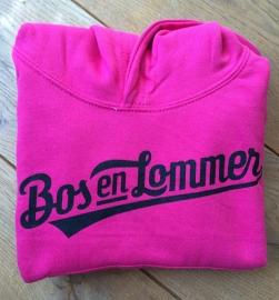 Bos en Lommer Kids Hoodie Baseball Hot Pink