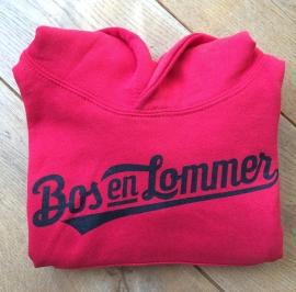 Bos en Lommer Kids Hoodie Baseball Red