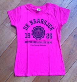 De Baarsjes Ladyfit T-shirt Hot Pink
