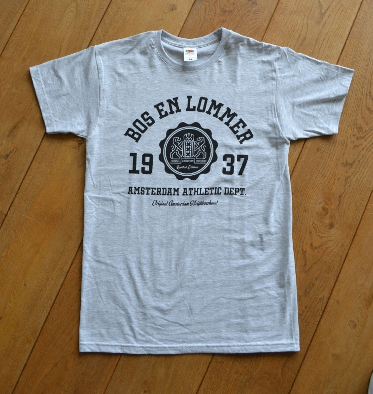 Bos en Lommer T-Shirt Heren Heather Grey
