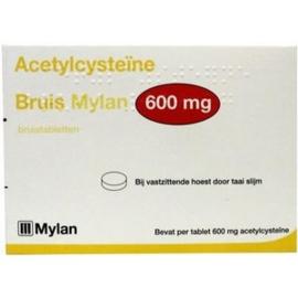 Acetylcysteïne Bruis Mylan 600 mg 10 tabletten