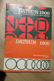 instructieboekje Datsun 1200 B110 serie 1972