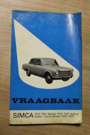 De Vraagbaak van Piet olyslager voor de Simca 1301, 1301 Spécial, 1501, 1501 Spécial sedan, Tourist (break) van 1967-1970