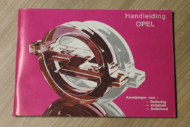 instructieboekje Opel Kadett, Ascona, Manta, Rekord  serie 1979