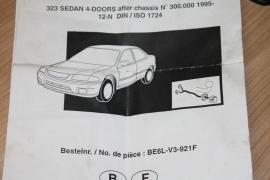 Trekhaak kabelset Mazda 323 sedan vanaf 1995 -
