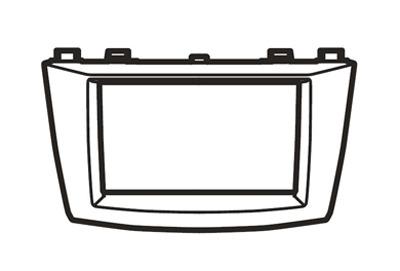 Audiopaneel 2-DIN Mazda3 BL model 2008-2011