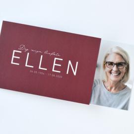 Rouwkaart vrouw | VOOR ALTIJD JIJ - ROOD