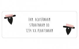 14 adresstickers | LETTERBANNER - hartje