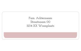 14 adresstickers | Basic - roze
