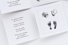Rouwkaartje jongen   FEATHER BABY