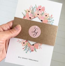 Trouwkaart | AQUAREL FLOWERS