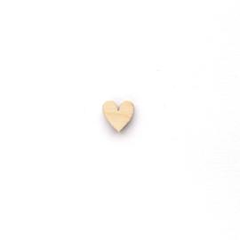 Houten hartje 10mm | KLEIN