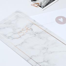Rouwkaartje meisje | Marble