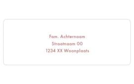 14 adresstickers | Neutraal - donkerrood / roest