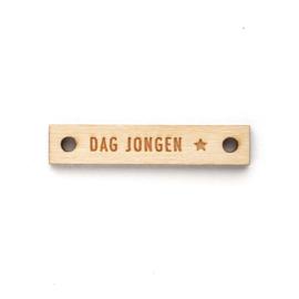 Houten label recht 60x12 mm | DAG JONGEN