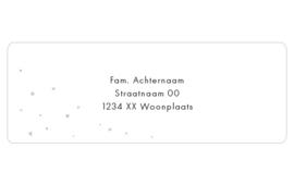 14 adresstickers   Oudrozester, hartje & stip