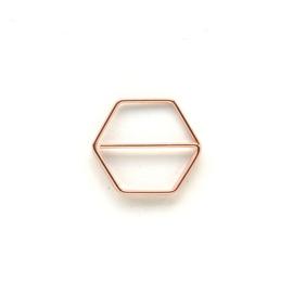 Paperclip metaal 25mm | set van 10 stuks | COPPER HEXAGON