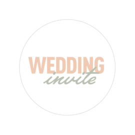 24 ronde stickers | Wedding invite