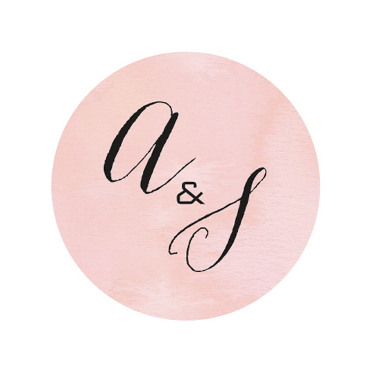 24 ronde stickers   Aquarel flowers initialen - roze