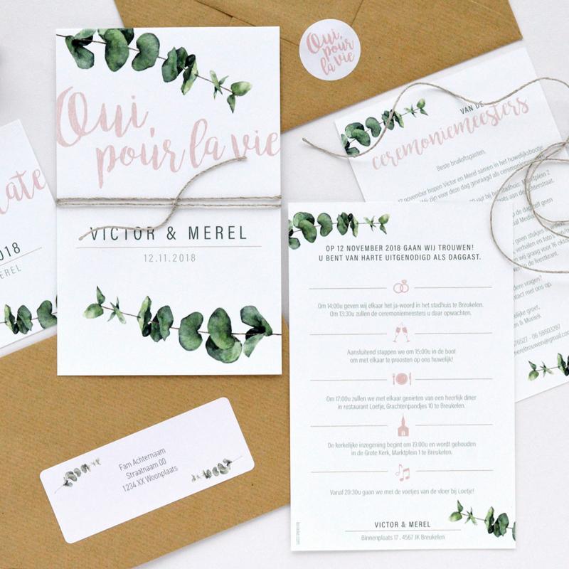 Trouwkaart | EUCALYPTUS WEDDING