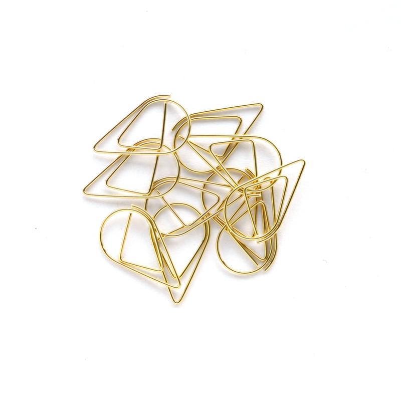 Paperclip metaal 25mm | set van 10 stuks | GOLD DROP