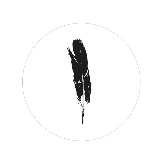 24 ronde stickers | Black Feather