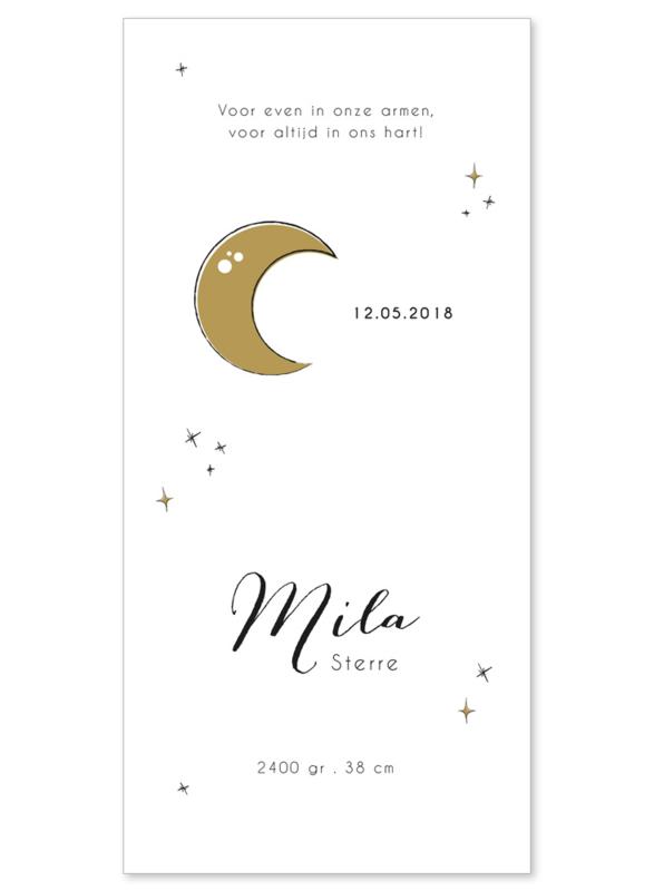 Rouwkaartje meisje | MOON & STAR