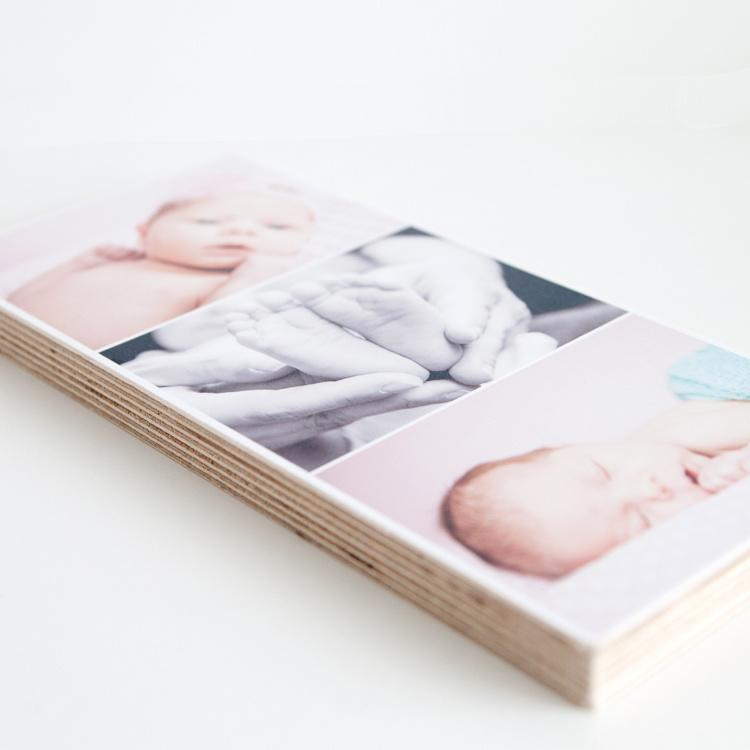 Kaartje op hout | Enkel - 13x29cm