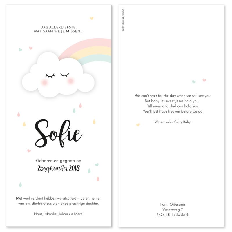 Rouwkaartje meisje | RAINBOW