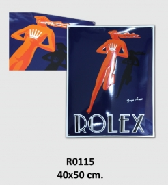 Rolex Emaille bord 40x50 cm