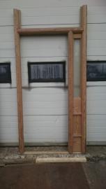 P1 Buitendeur met geslepen glas en kozijn 120 x 247
