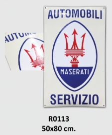 Automobili Servizio Emaille bord 50x80 cm