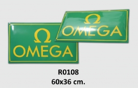 Omege Emaille bord 60x36 cm