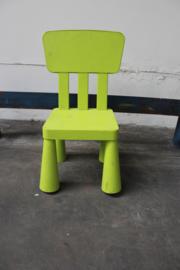 Groen ikea stoeltje plastic