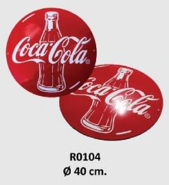 Coca Cola Emaille bord Ø 40 cm