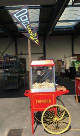 Vintage Popcorn machine (+ ''popcorn'' bord)