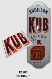 KUB Emaille bord 33x100 cm