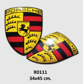 Porsche Emaille bord 34x45 cm