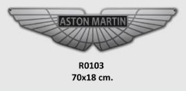 Aston Martin Emaille bord 70x18 cm