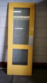No. 54 Massieve hardhouten deur met glas 73 x 207
