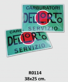 Carburatori Dellorto Servizio Emaille bord 38x25 cm